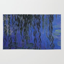 """Claude Monet """"Water Lilies and Weeping Willow Branches"""", 1919 Rug"""