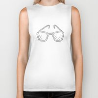 glasses Biker Tanks featuring Glasses by Ocso