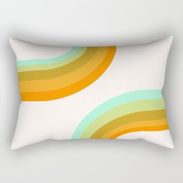 Dy-no-mite - retro throwback 70s style vibes 1970s art decor minimalist surfer Rectangular Pillow