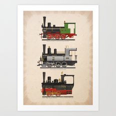 Groovy locomotives Art Print