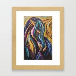 Polychrome Pony Framed Art Print