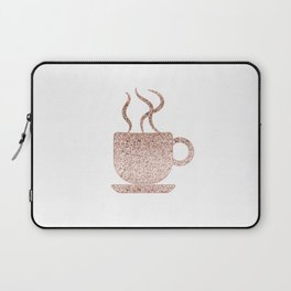 Sparkling rose gold coffee mug Laptop Sleeve