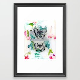 his and hers Framed Art Print