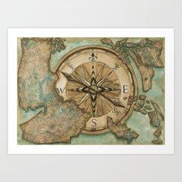 Nautical Compass Kunstdrucke