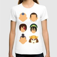 aang T-shirts featuring Team Avatar by Adrian Mentus