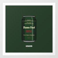 Art Print featuring VOLL DAMN by MEET THE PUGS