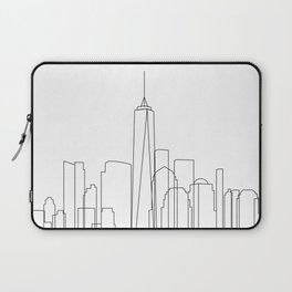 New York City Skyline Outline Laptop Sleeve