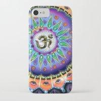 ohm iPhone & iPod Cases featuring Ohm Mandala  by Kaleidoscopic