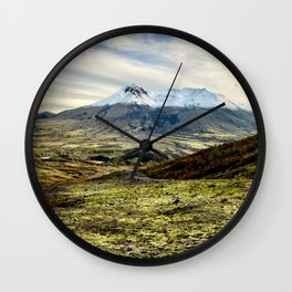 Mt St Helens Panorama Wall Clock