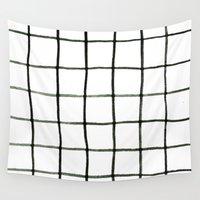 grid Wall Tapestries featuring Grid by Tiffany Wong Art