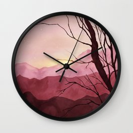 Sunset & landscape Wall Clock