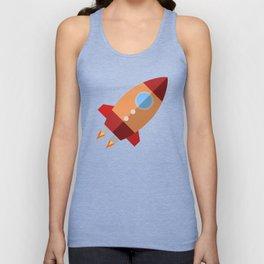Rocket Ship Unisex Tank Top
