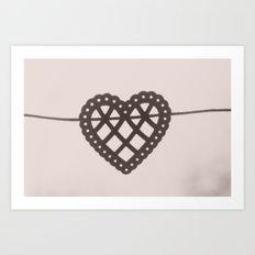 heart on a string Art Print