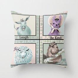 Animal Portraits Throw Pillow