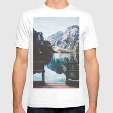 Adventure, that is life II MEDIUM White Mens Fitted Tee