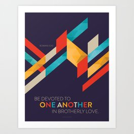 One Another Scripture Poster: Romans 12 Art Print