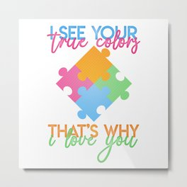 Autism Colors v1.0 Metal Print