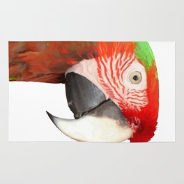 A Beautiful Bird Harlequin Macaw Portrait Background Removed Rug