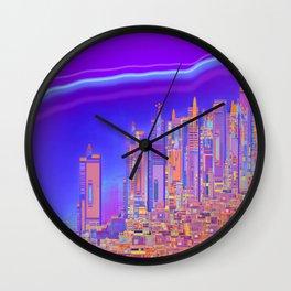 Saturnian Ultraviolet Wave Wall Clock