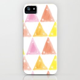 triangle pattern illustration iPhone Case