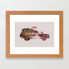 Drive me back home 2 Framed Art Print