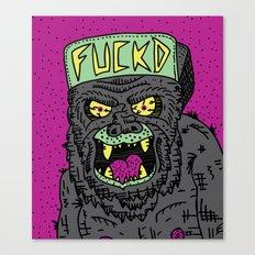 80's Hardcore Gorilla Canvas Print
