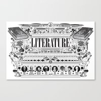literature Canvas Prints featuring Literature Poster by Ryan Huddle House of H