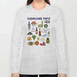 Cleveland Ohio Icons Long Sleeve T-shirt