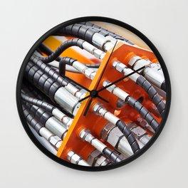 Hoses of hydraulic machine Wall Clock