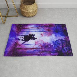 Horse and Rider Purple Edition Rug