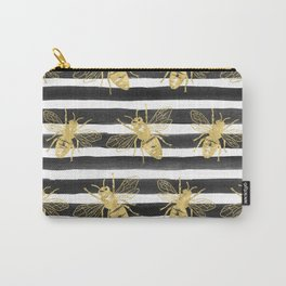 Golden bee noir Carry-All Pouch