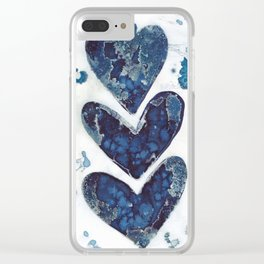 Three hearts are better than two. Clear iPhone Case