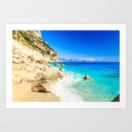 The beautiful Cala Goloritzè in Sardinia Art Print