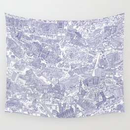 Illustrated map of Berlin-Mitte. Ink pen design Wall Tapestry