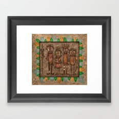 The cannibals Framed Art Print