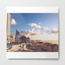 Tel Aviv Beach Metal Print