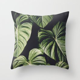 Monstera America Throw Pillow