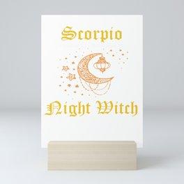 Scorpio Night Witch | Zodiac Mini Art Print