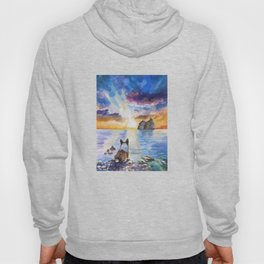 Corgi - dreamer and calm calm sunset Hoody