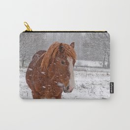 Horse in the snow Carry-All Pouch