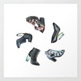 Watercolor Miista Shoes Art Print