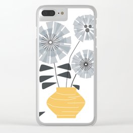 Midcentury Floral #society6 #decor #floral Clear iPhone Case