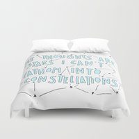 fault in our stars Duvet Covers featuring The Fault in Our Stars by Christa Morgan ☽
