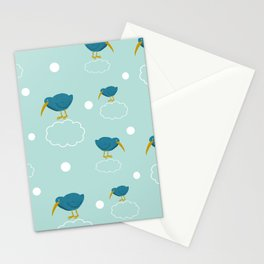 Kiwi birds on the clouds Stationery Cards