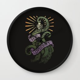 H.P. Lovecraft Tentacle Wall Clock