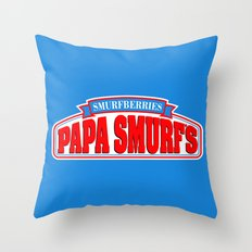 Papa Smurf's Throw Pillow