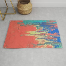 Abstract fluid art Rug