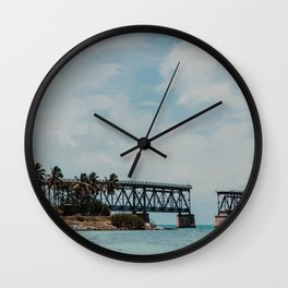 Florida Keys Bridge | Fine Art Travel Photography Wall Clock