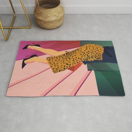 Just steppin' in, and you`re gonna hear me Roar - Fashion illustration Rug