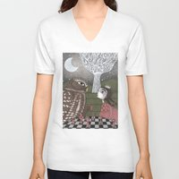 once upon a  time V-neck T-shirts featuring Once Upon a Time by Judith Clay